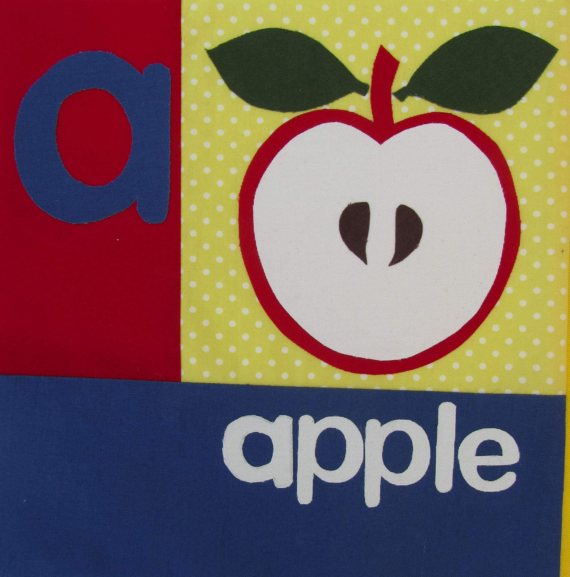 Alphabet quilt apple