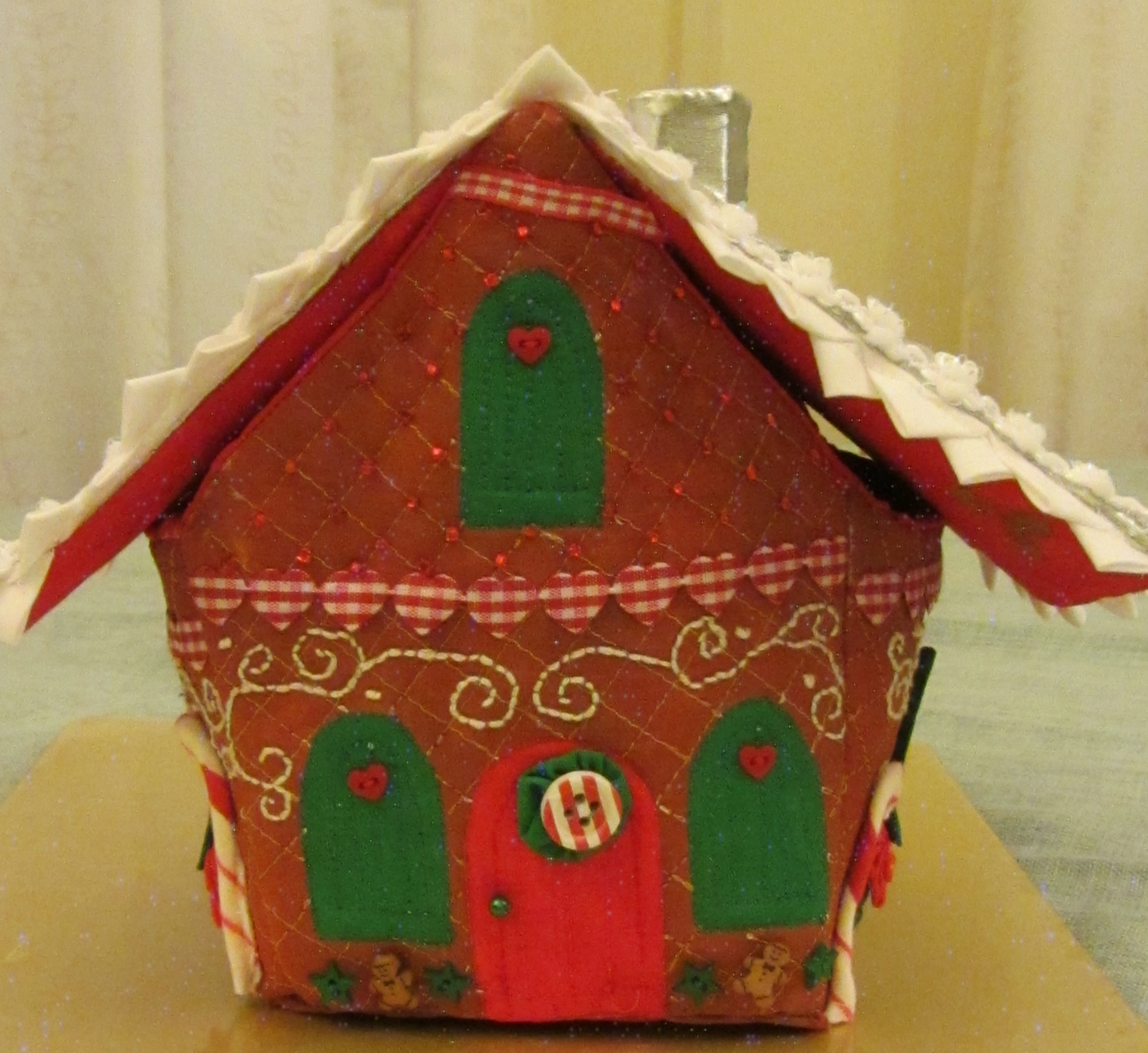 Textile gingerbread house