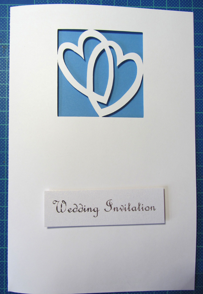 linked hearts wedding invitation