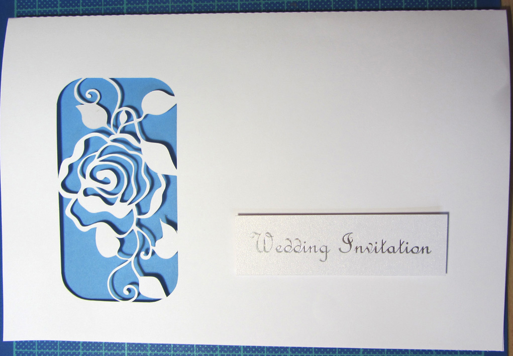 filigree rose wedding invitation