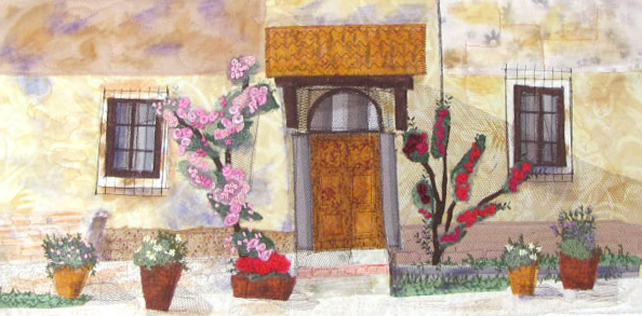 Tuscan door embroidery